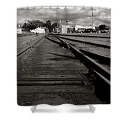 Last Train Track Out Shower Curtain