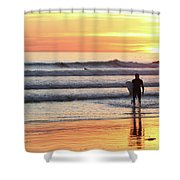 Last Wave Of The Day Shower Curtain