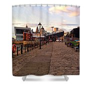 Late Afternoon At Albert Dock Shower Curtain