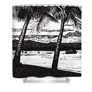 Late Afternoon At Dunk Island Shower Curtain