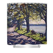 Late Afternoon At Niawanda Park Shower Curtain