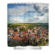 Late Afternoon Light On Staithes Shower Curtain