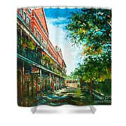 Late Afternoon On The Square Shower Curtain by Dianne Parks
