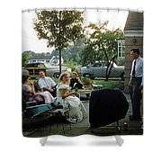 Late Afternoon Summer Party Shower Curtain