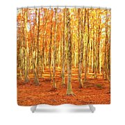 Late Autumn In Calabria Shower Curtain