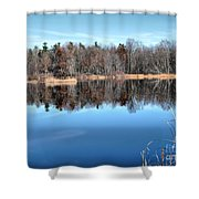 Late Autumn Reflections Shower Curtain