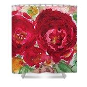 Late Autumn Rose Shower Curtain