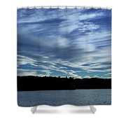 Late Day Clouds Over Mountainss Shower Curtain