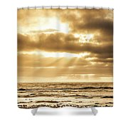 Late Day Rays Shower Curtain
