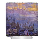 Late Evening In Town Shower Curtain