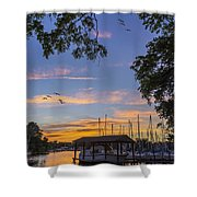 Late Evening On The Cove Shower Curtain