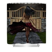 Late Evening Stroll Shower Curtain