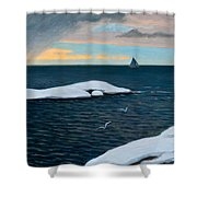 Late Fall At Sea Shower Curtain