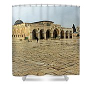 Late For Prayer Shower Curtain