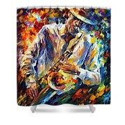 Late Music Shower Curtain