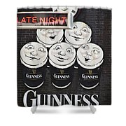 Late Night Guinness Limerick Ireland Shower Curtain