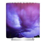 Late Night Nebraska Shelf Cloud 001 Shower Curtain