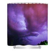 Late Night Nebraska Shelf Cloud 002 Shower Curtain