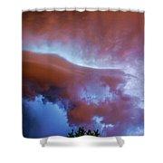 Late Night Nebraska Shelf Cloud 007 Shower Curtain