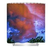 Late Night Nebraska Shelf Cloud 010 Shower Curtain