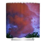 Late Night Nebraska Shelf Cloud 011 Shower Curtain