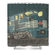 Late Night On The New York Central Shower Curtain