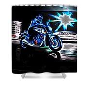 Late Night Street Racing Shower Curtain