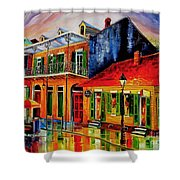 Late On Bourbon Street Shower Curtain
