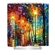 Late Stroll Shower Curtain