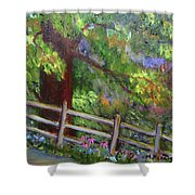 Late Summer At Pennypack Preserve Shower Curtain