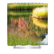 Stillness Of Late Summer Marsh  Shower Curtain