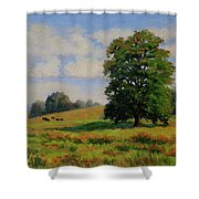 Late Summer Pastoral Shower Curtain