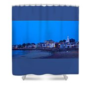 Late Summer Rockport Twilight Shower Curtain