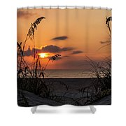 Late Sunrise Shower Curtain