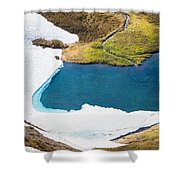 Late Thawing Tarn Shower Curtain