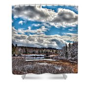 Late Winter At The Tobie Trail Bridge Shower Curtain
