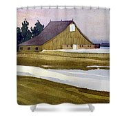 Late Winter Melt Shower Curtain