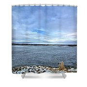 Later Winter Ice 3 Shower Curtain