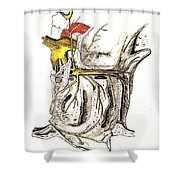 Lateral Wall Of Nasal Cavity Shower Curtain