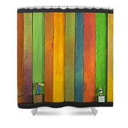Lathe1 Bail And Girl Shower Curtain