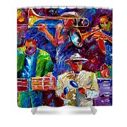 Latin Jazz Shower Curtain
