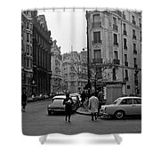 Latin Quarter Paris 3 Shower Curtain