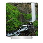 Latourell Falls Oregon Shower Curtain