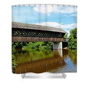 Lattice Covered Bridge Shower Curtain