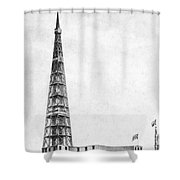 Latting Observatory, Nyc, 1850s Shower Curtain