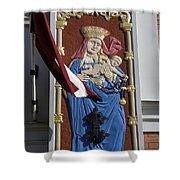 Latvia, Riga, Virgin Mary And Jesus Shower Curtain