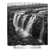 Laugafell Mountain Lodge Waterfalls 3155 Shower Curtain