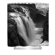 Laugafell Mountain Lodge Waterfalls Iceland 3146 Shower Curtain