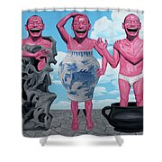 Laugh Heartily Shower Curtain