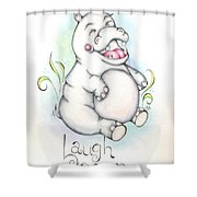 Laugh Often Shower Curtain